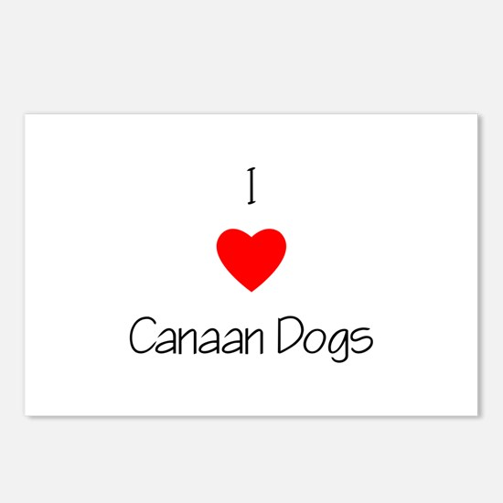 I Love Canaan Dogs Postcards (Package of 8)