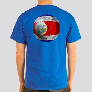 Costa Rica Soccer Ball Dark T-Shirt