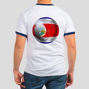 Costa Rica Soccer Ball Ringer T