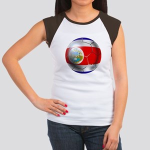 Costa Rica Soccer Ball Women's Cap Sleeve T-Shirt