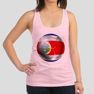 Costa Rica Soccer Ball Racerback Tank Top