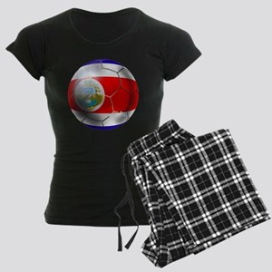 Costa Rica Soccer Ball Women's Dark Pajamas