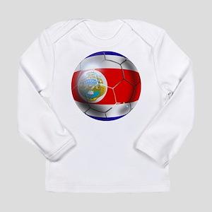 Costa Rica Soccer Ball Long Sleeve Infant T-Shirt