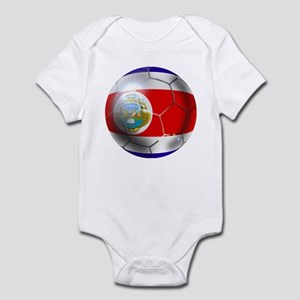 Costa Rica Soccer Ball Infant Bodysuit