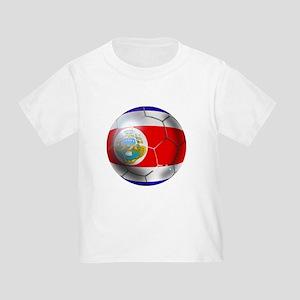 Costa Rica Soccer Ball Toddler T-Shirt