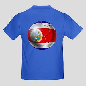 Costa Rica Soccer Ball Kids Dark T-Shirt