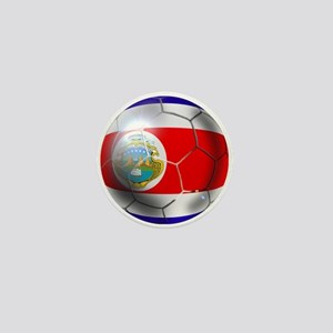 Costa Rica Soccer Ball Mini Button