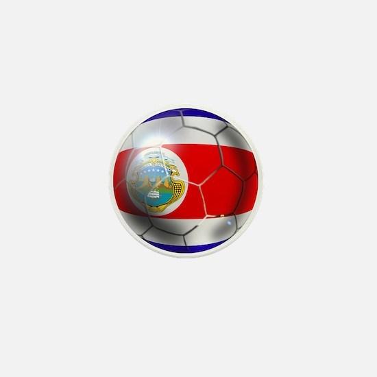Costa Rica Soccer Ball Mini Button