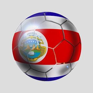 """Costa Rica Soccer Ball 3.5"""" Button"""