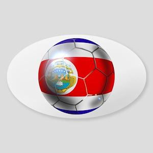 Costa Rica Soccer Ball Sticker (Oval)