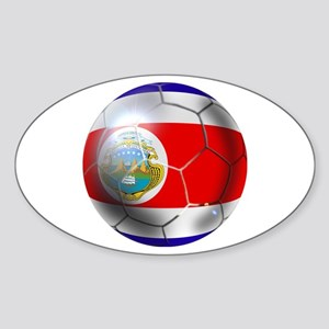 Costa Rica Soccer Ball Sticker (Oval 10 pk)