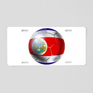 Costa Rica Soccer Ball Aluminum License Plate