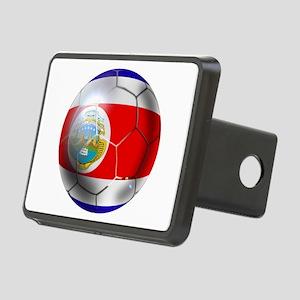 Costa Rica Soccer Ball Rectangular Hitch Cover