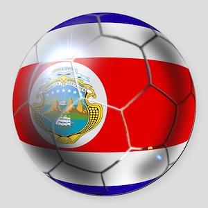 Costa Rica Soccer Ball Round Car Magnet