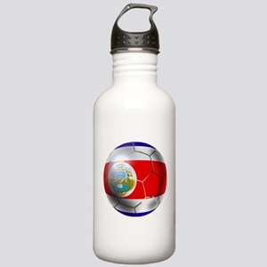Costa Rica Soccer Ball Stainless Water Bottle 1.0L