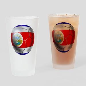 Costa Rica Soccer Ball Drinking Glass