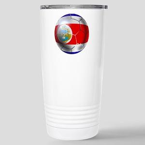 Costa Rica Soccer Ball Stainless Steel Travel Mug
