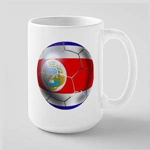 Costa Rica Soccer Ball Large Mug