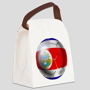Costa Rica Soccer Ball Canvas Lunch Bag