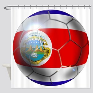 Costa Rica Soccer Ball Shower Curtain
