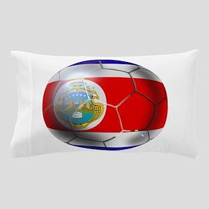 Costa Rica Soccer Ball Pillow Case