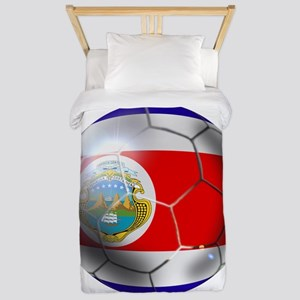 Costa Rica Soccer Ball Twin Duvet