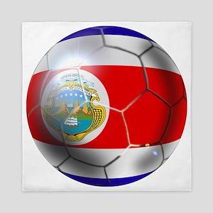 Costa Rica Soccer Ball Queen Duvet