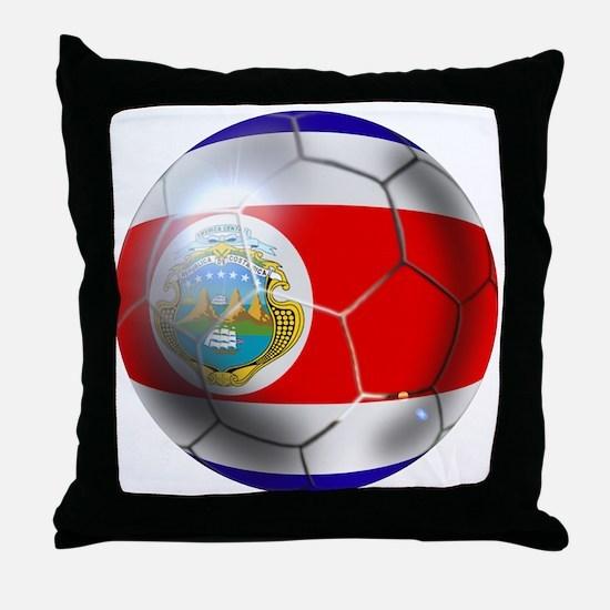 Costa Rica Soccer Ball Throw Pillow
