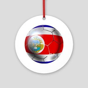 Costa Rica Soccer Ball Ornament (Round)