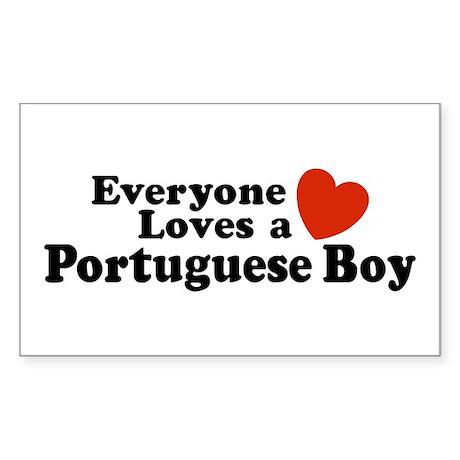Everyone Loves a Portuguese Boy Sticker (Rectangul