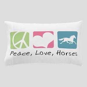 Peace, Love, Horses Pillow Case