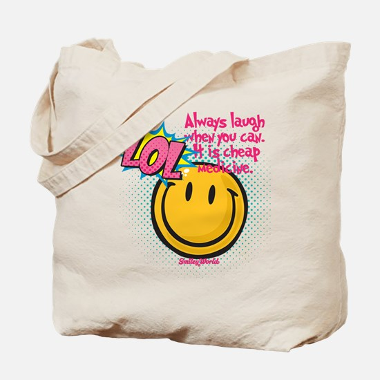 lol smiley Tote Bag