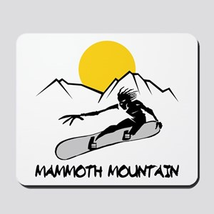 Mammoth Mountain Snowboard Mousepad