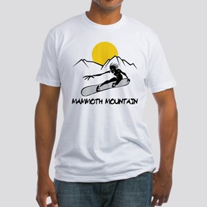 Mammoth Mountain Snowboard Fitted T-Shirt
