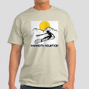 Mammoth Mountain Snowboard Ash Grey T-Shirt