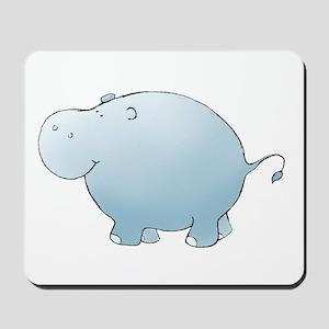 Blue Hippo Mousepad