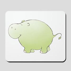 Green Hippo Mousepad