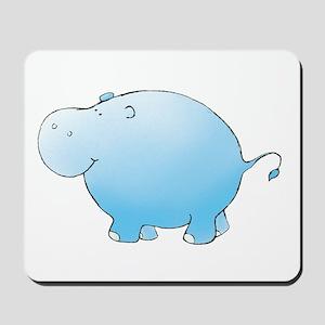 Turquoise Hippo Mousepad