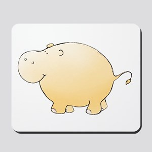 Yellow Hippo Mousepad