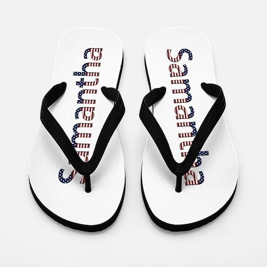 Samantha Stars and Stripes Flip Flops