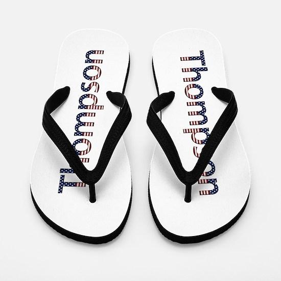 Thompson Stars and Stripes Flip Flops