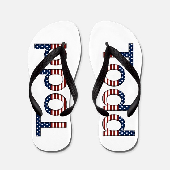 Todd Stars and Stripes Flip Flops