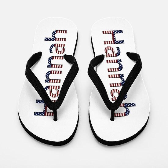 Hannah Stars and Stripes Flip Flops