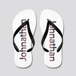 Johnathan Stars and Stripes Flip Flops