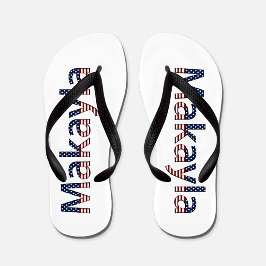 Makayla Stars and Stripes Flip Flops