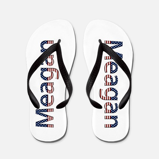Meagan Stars and Stripes Flip Flops
