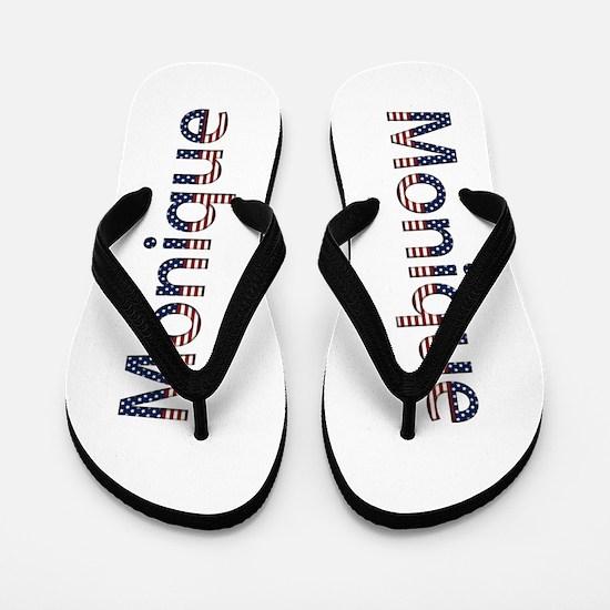 Monique Stars and Stripes Flip Flops