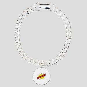 Super Mom! Charm Bracelet, One Charm