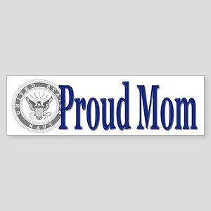 Proud Mom (Navy) Bumper Sticker