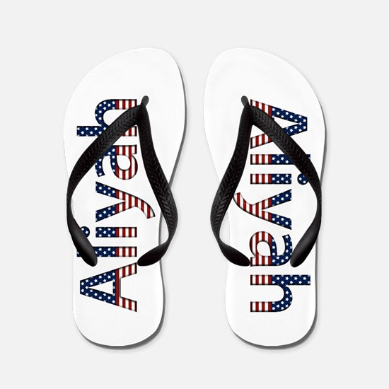 Aliyah Stars and Stripes Flip Flops